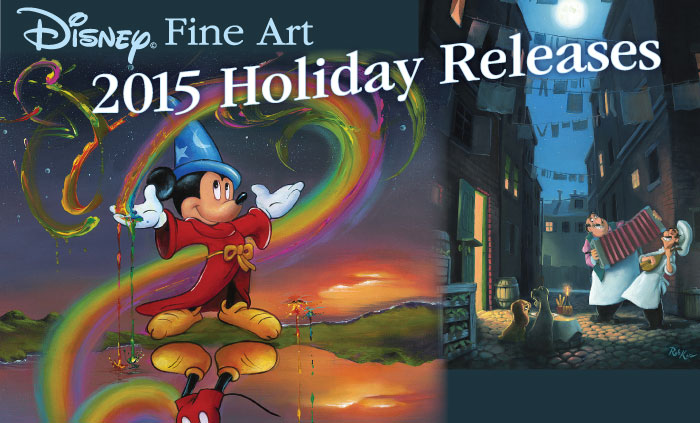Disney Fine Art Holiday 2015 Releases