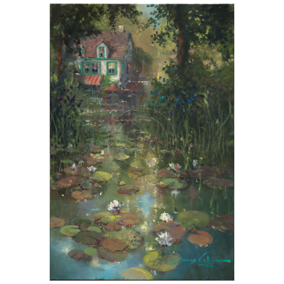 Nestled Along the Pond by James Coleman