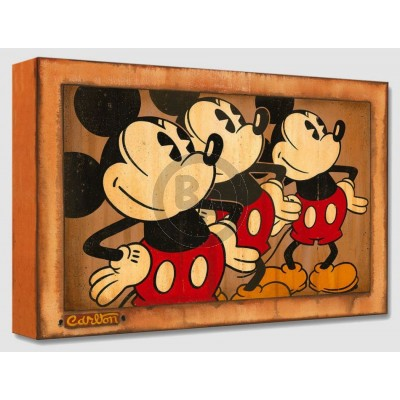 Treasures on Canvas: Three Vintage Mickeys by Trevor Carlton
