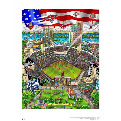 2016 MLB All-Star Game: San Diego by Charles Fazzino
