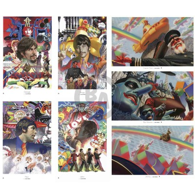 Beatles Yellow Submarine Portfolio Lithograph Prints by Alex Ross (Regular)