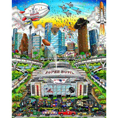 Super Bowl LI: Houston by Charles Fazzino