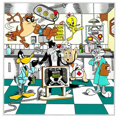 Warner Bros. Doctor Series: A Looney Doctor Visit by Charles Fazzino (Deluxe)