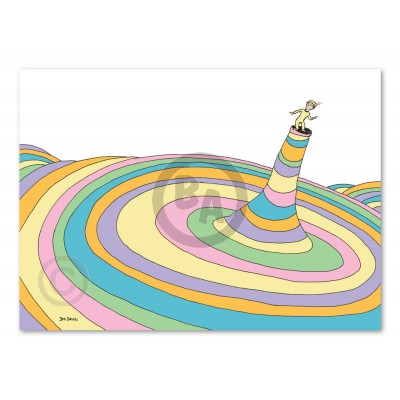 Oh the Places You'll Go! Cover Illustration Deluxe by Dr. Seuss