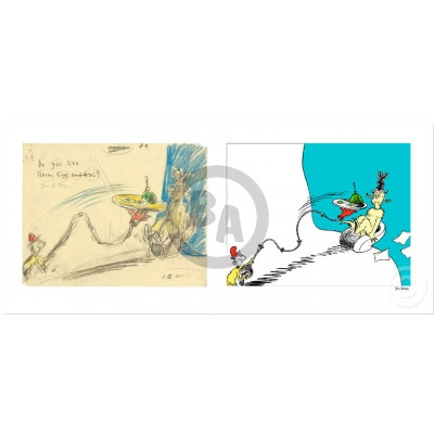 Do You Like Green Eggs and Ham? Diptych by Dr. Seuss