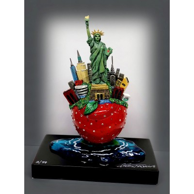 The Little Bronze Apple Sculpture by Charles Fazzino