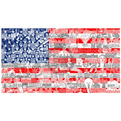 Historically... Our American Flag by Charles Fazzino (Deluxe)
