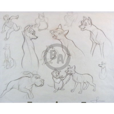 Disney: The Fox and the Hound Double-Sided Drawing