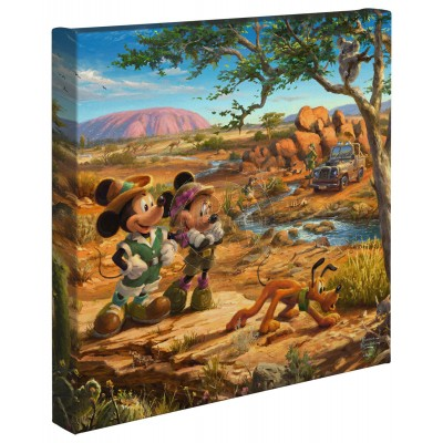 Kinkade Disney Minis: Mickey And Minnie In The Outback