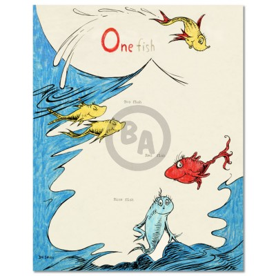 One Fish Two Fish Red Fish Blue Fish 60th Anniversary by Dr. Seuss