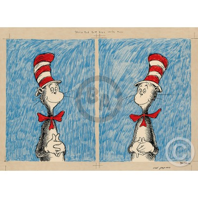The Cat's Debut - Diptych by Dr. Seuss