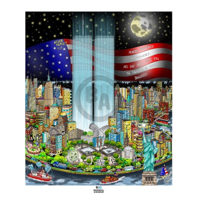 9/11: A Time for Remembrance by Charles Fazzino (Deluxe)