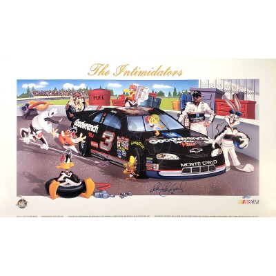 The Intimidator hand signed by Dale Earnhardt