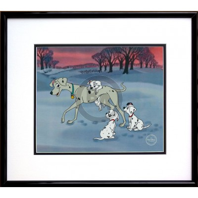 Perdita and Her Pups framed