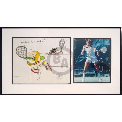 Anyone For Tennis? by Friz Freleng diptych signed by Jimmy Connors