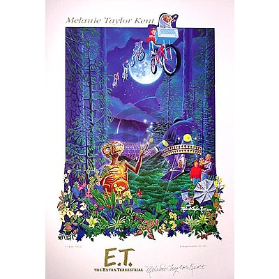 E.T. Poster Hand-Signed by Melanie Taylor Kent