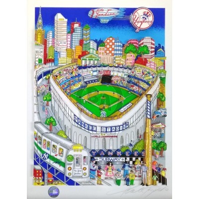 Let's Go Yankees by Charles Fazzino