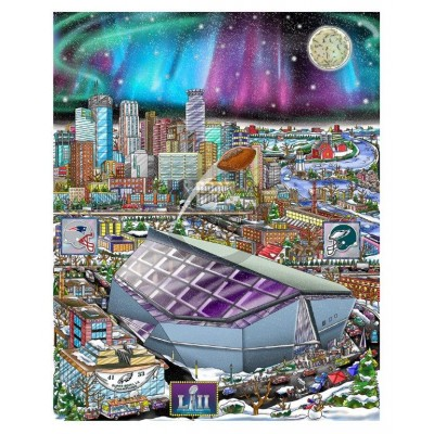 Super Bowl LII: Minneapolis by Charles Fazzino