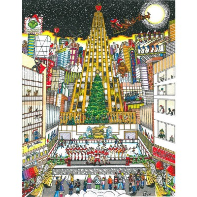 That Holiday Night in NYC by Charles Fazzino