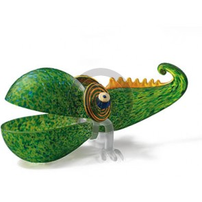 Borowski Chameleon Bowl, Green, Large (24-01-35)