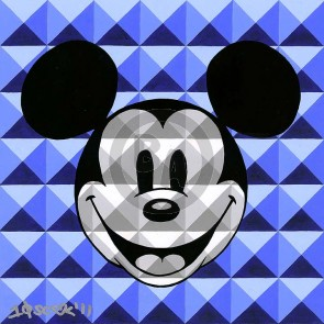 8-Bit Block Mickey: Blue