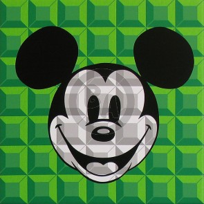 8-Bit Block Mickey: Green