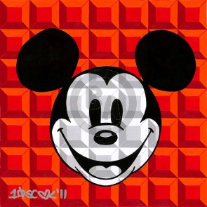 8-Bit Block Mickey: Red