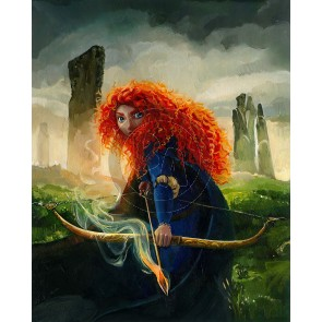 Brave Merida by Jim Salvati