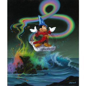 Mickey Making Magic by Jim Warren