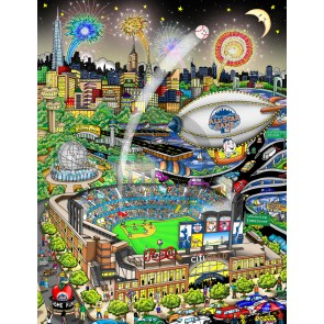2013 MLB All-Star Game: New York by Charles Fazzino