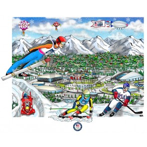 Sochi Olympic Games by Charles Fazzino