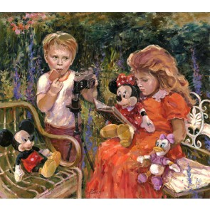 Reading to Minnie by Irene Sheri