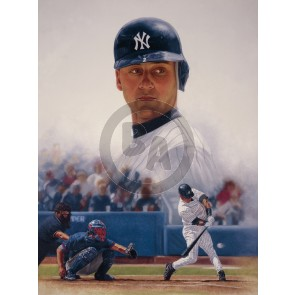 Derek Jeter on Canvas by Mike Kupka
