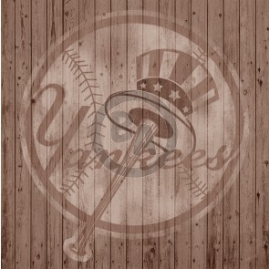 NEW YORK YANKEES BASEBALL LOGO (BROWN) BY MIKE KUPKA