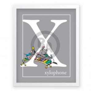 X, Xylophone by Dr. Seuss (Grey)