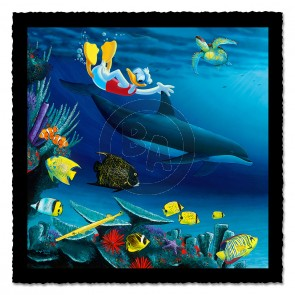 """Donald Diver"" (Triptych Left ) by Wyland"