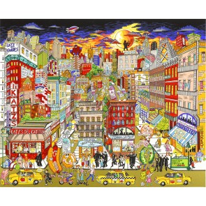 Fahklumpt and Famisched in this Meshugeneh City...NYC by Charles Fazzino