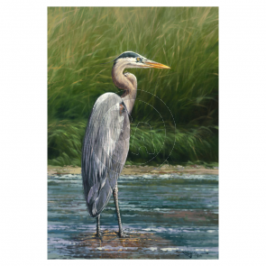 Big Blue (Heron) by Rodel Gonzalez