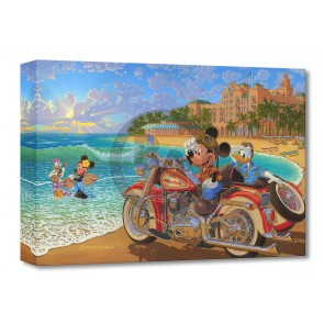 Treasures on Canvas: Where the Road Meets the Sea by Manuel Hernandez