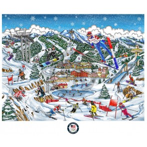 Olympic Games, 2018, PyeongChang by Charles Fazzino (Deluxe)