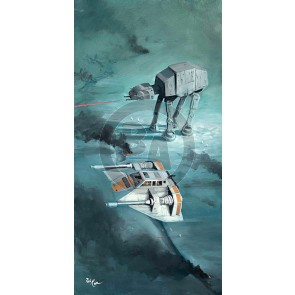 Snow Speeder Fly Over by Rob Kaz