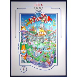 U.S. Olympic Centoonial (serigraph) by Melanie Taylor Kent