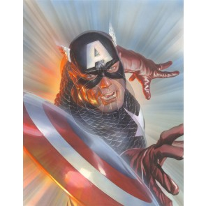 Larger Than Life: Marvelocity: Captain America by Alex Ross