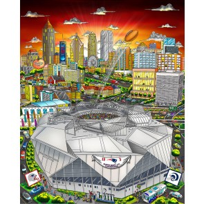 Super Bowl LIII: Atlanta by Charles Fazzino