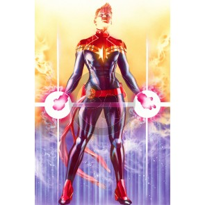Mighty Captain Marvel Lithograph by Alex Ross