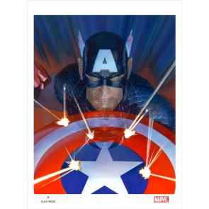 Visions: Captain America by Alex Ross (Lithograph)