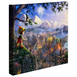 Kinkade Disney Minis: Pinocchio Wishes Upon A Star