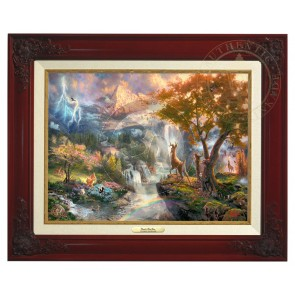 Kinkade Disney Canvas Classics: Bambis First Year (Classic Brandy Frame)