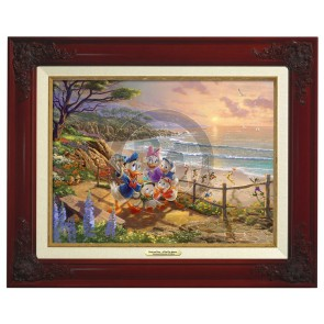 Kinkade Disney Canvas Classics: Donald and Daisy A Duck Day Afternoon (Classic Brandy Frame)