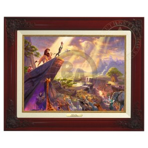 Kinkade Disney Canvas Classics: The Lion King (Classic Brandy Frame)